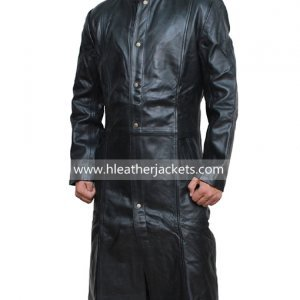 Long Coats for Men | Trench Leather Coat - Hleather Jackets