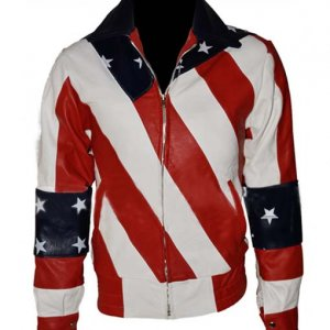 Women American Flag Jacket