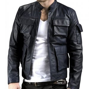 Han Solo Black Leather Jacket