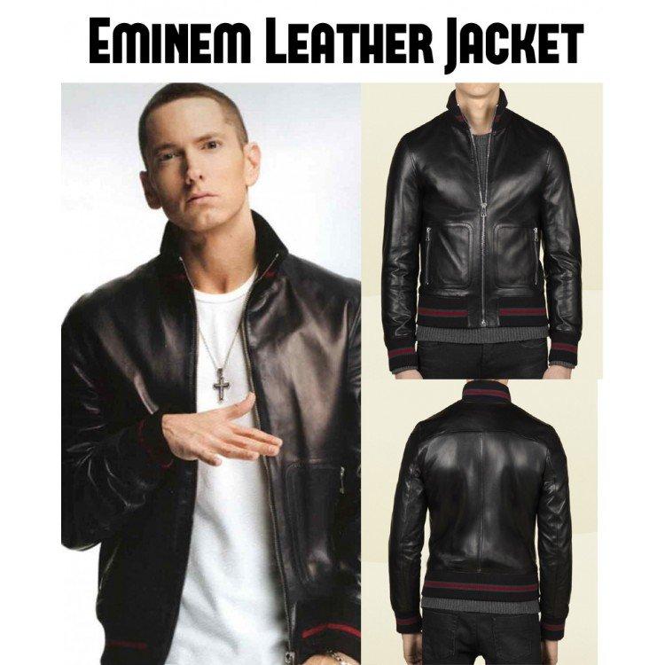 Eminem Not Afraid Real Leather Jacket// Motorcycle Jacket