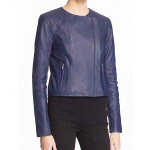 arrow-emily-bett-rickards-blue-leather-jacket