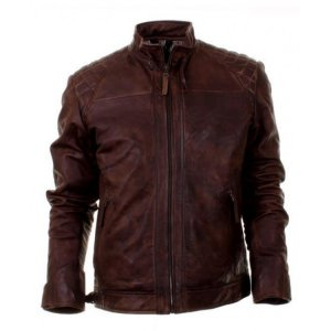 Oliver Queen Brown Leather Jacket