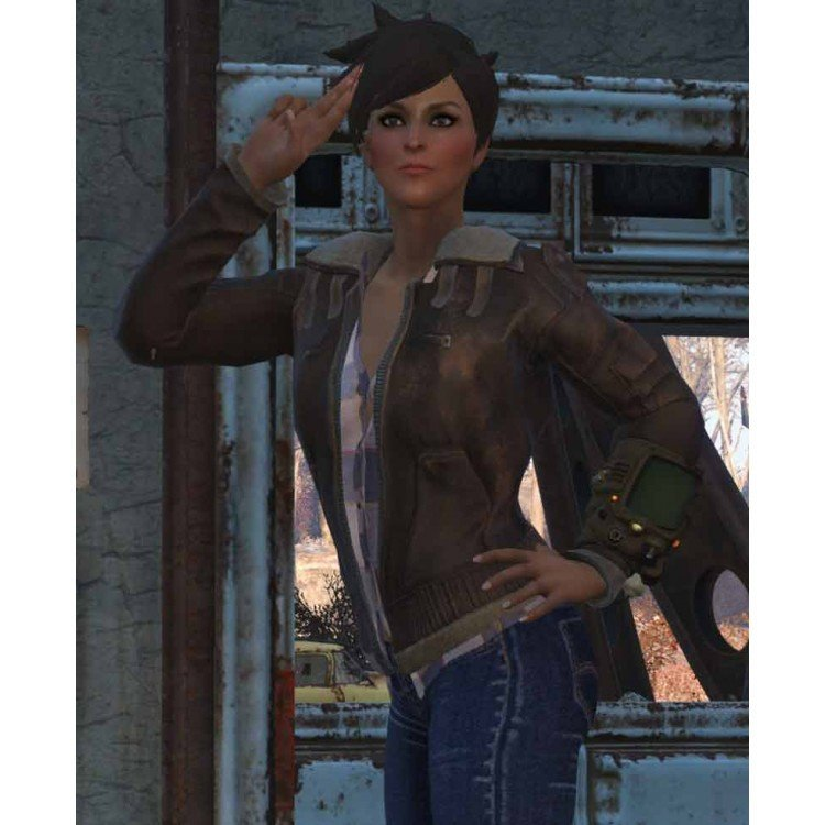 Get Fallout 76 Shearling Leather Jacket For Sale