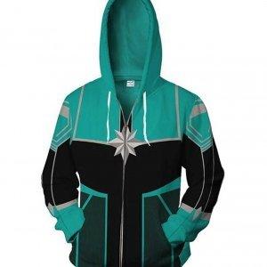Captain Marvel Green Hoodie