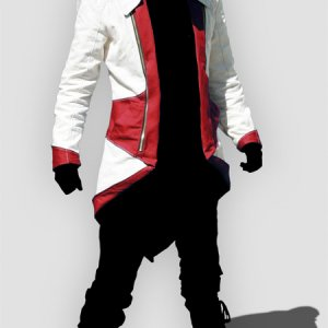 Assassin's Creed III Connor Red And White Jacket Cosplay Costume