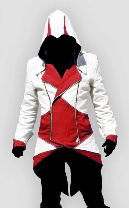 Assassins Creed Red And White Hoodie For Sale