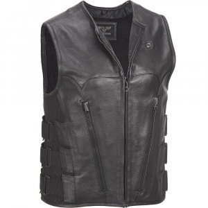 Motorcycle Vest with Adjustable Side Straps