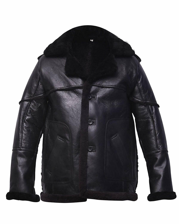 SRHides Womens Winter Soldier Captain Leather Jacket