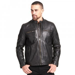 Mens Moto Leather Jacket