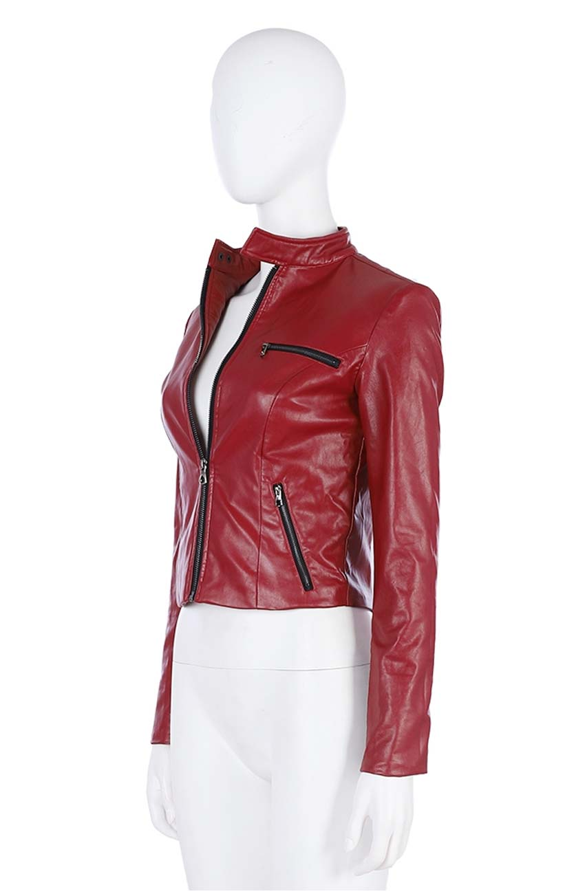 Resident Evil 2 Remake Claire Redfield Leather Jacket