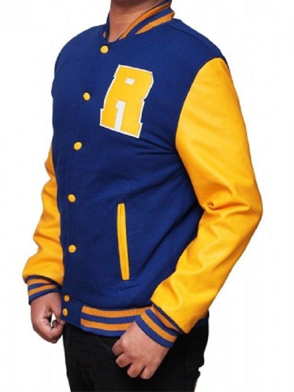 Riverdale Unisex American Letterman Baseball Leather Blue