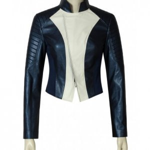 Iris West leather Jacket