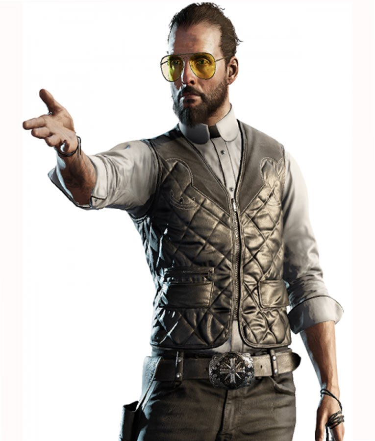 Far Cry 5 Joseph Seed Vest Quilted Design Hleatherjackets