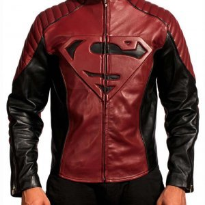 Superman Black and Maroon Jacket