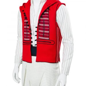 Aladdin Red Hooded Vest
