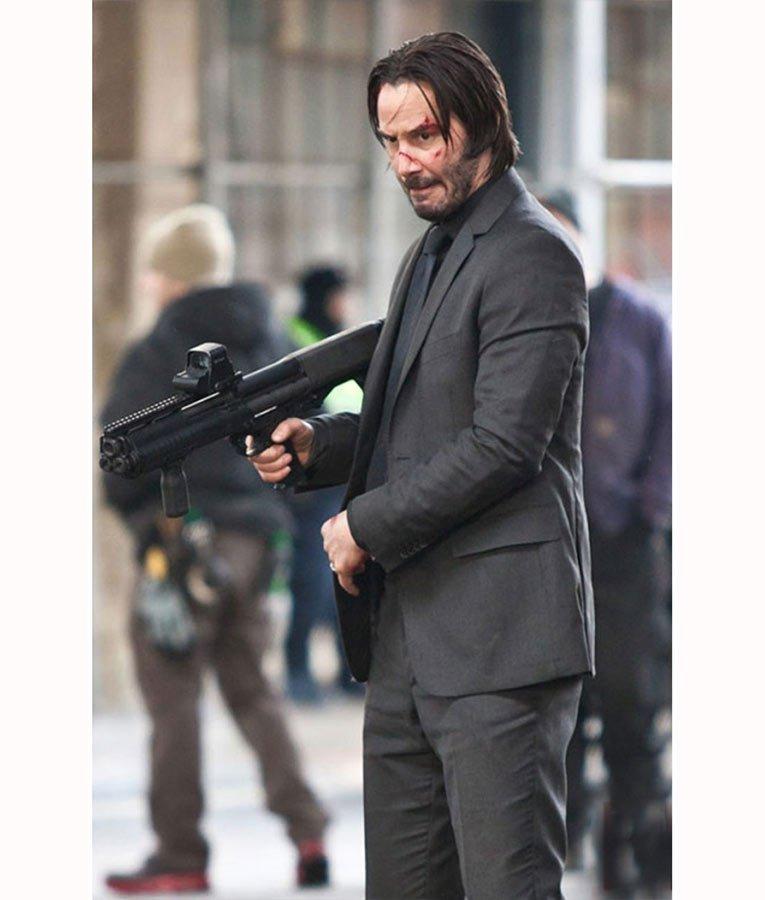 John Wick Grey 3 Pieces Suit