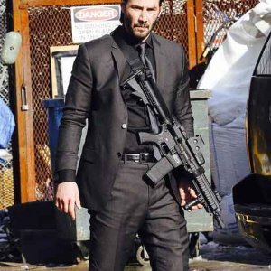 Keanu Reeves John Wick Grey Suit