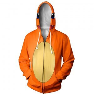 Pokemon Charmander Zip Up Hoodie