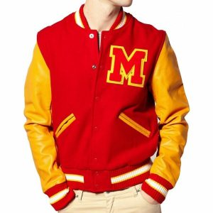 Michael Jackson Red Varsity Jacket