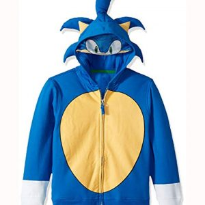 Sonic Blue Cosplay Hoodie For Sale Hleatherjackets