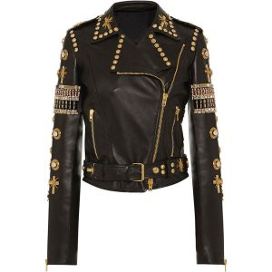Black & Golden Embroidered Jacket