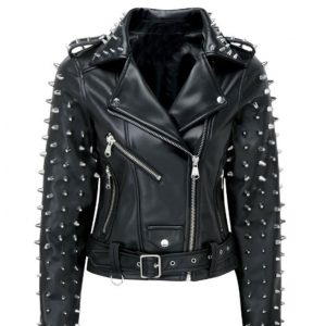Womens Billie Studded Biker Jacket