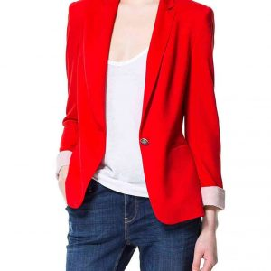 Red Blazer Womens Jacket