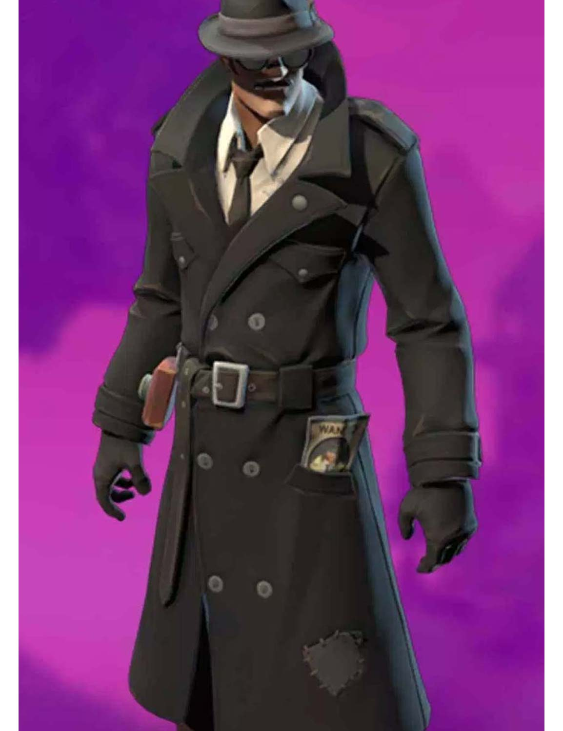 fast delivery look out for timeless design Noir Skin Fortnite Wool Coat