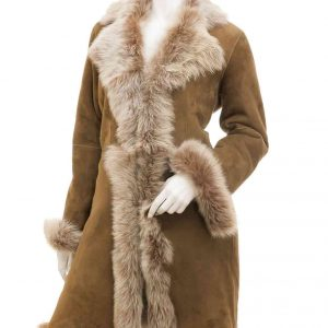 Womens Toscana Shearling Fur Coat