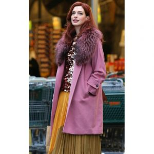 Modern Love Anne Hathaway Pink Coat