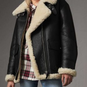Aviator Ivory Shearling Jacket