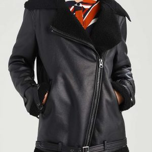 Womens Aviator Leather Jacket