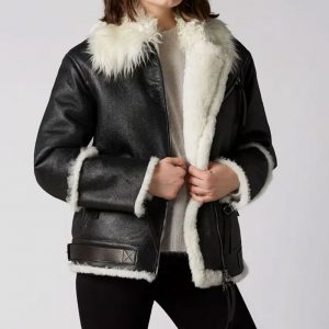 Aviator Black And White Jacket