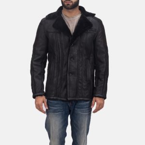 Mens Shearling Leather Coat
