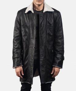 Mens Black Suede Coat