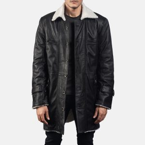 Mens Black Suede Coat