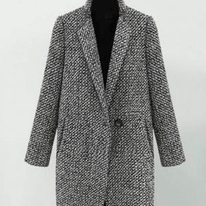 Womens Grey Wool Coat