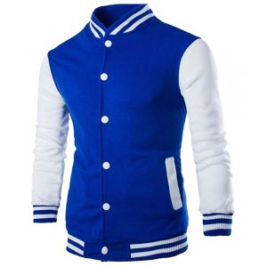 Slim Fit Men's Thick Varsity Jacket