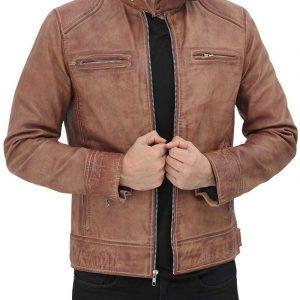 Cafe Racer Brown Jacket