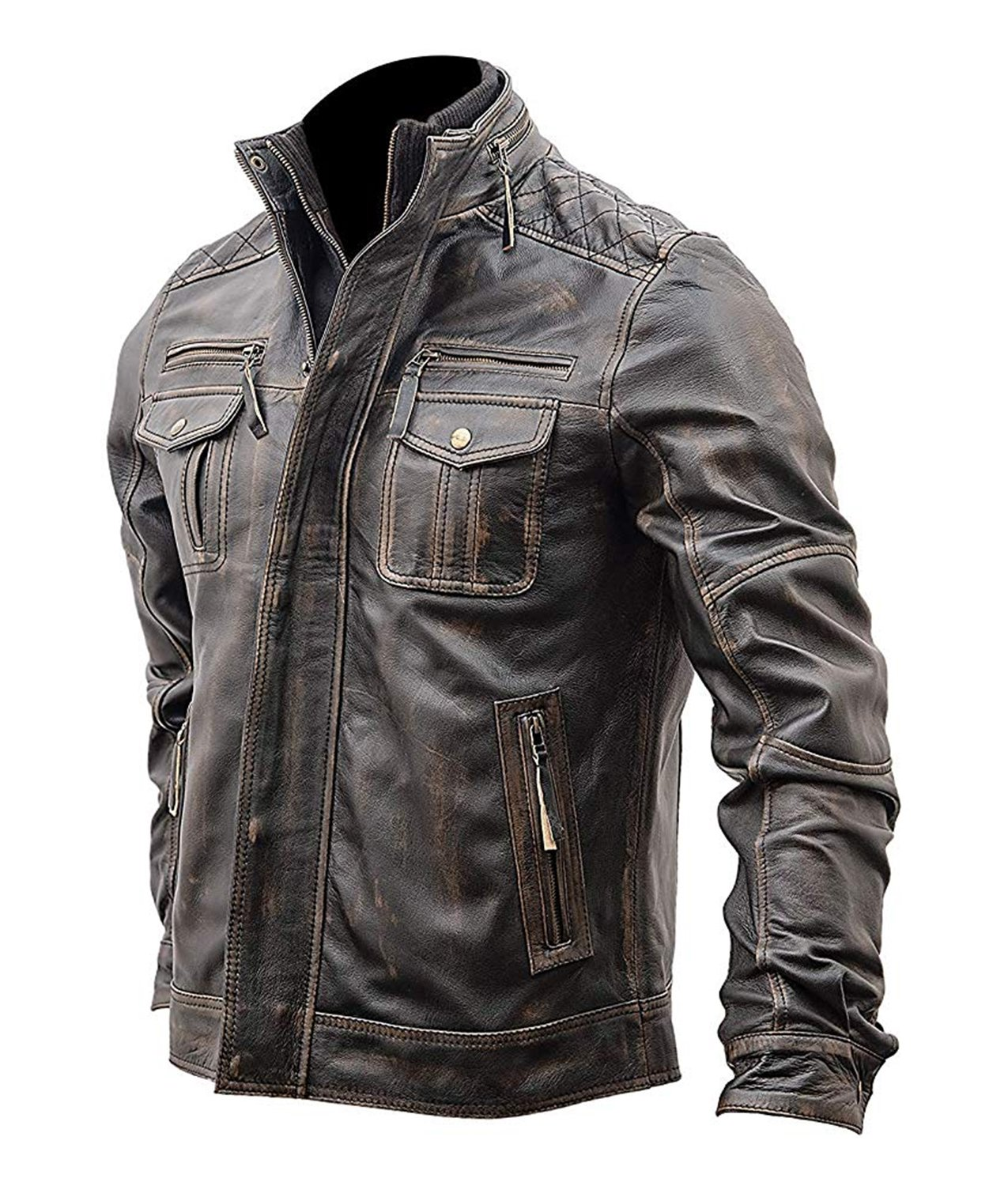 Lucifer Blue Men/'s Real Lambskin Leather Shirt Jacket WAREHOUSE CLEARANCE SALE!