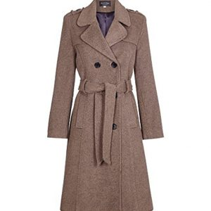 Womens Wool Belted Coat