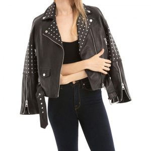 Womens Studded Motorcycle Jacket