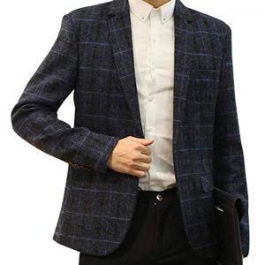 Mens Wool Tweed Blazer