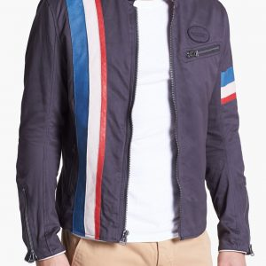 Mens Cafe Racer Cotton Jacket