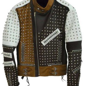 Men's Cafe Racer Studded Jacket