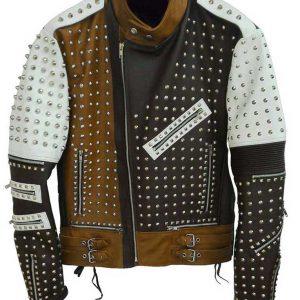 Men's Cafe Racer Studded Jacket