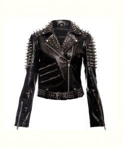 Black Spikes Studded Punk Jacket
