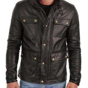Mens Cafe Racer Four Pocket Jacket