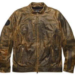 Men Distressed Biker Brown Jacket