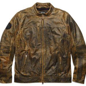 Men Distressed Biker Brown Jacket